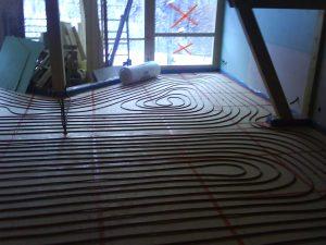 Underfloor Heating Pipes Go In