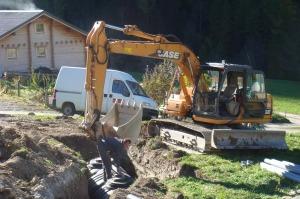 Excavation begins for Fosse Septique