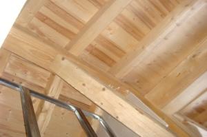 Beautiful Roof Beams of Top Floor Bedroom